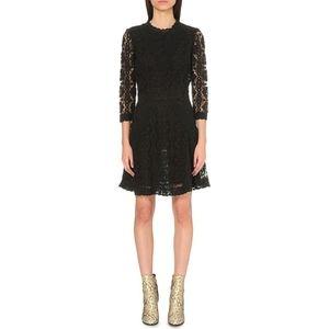 Maje Blace Floral Lace Crochet Renita Dress